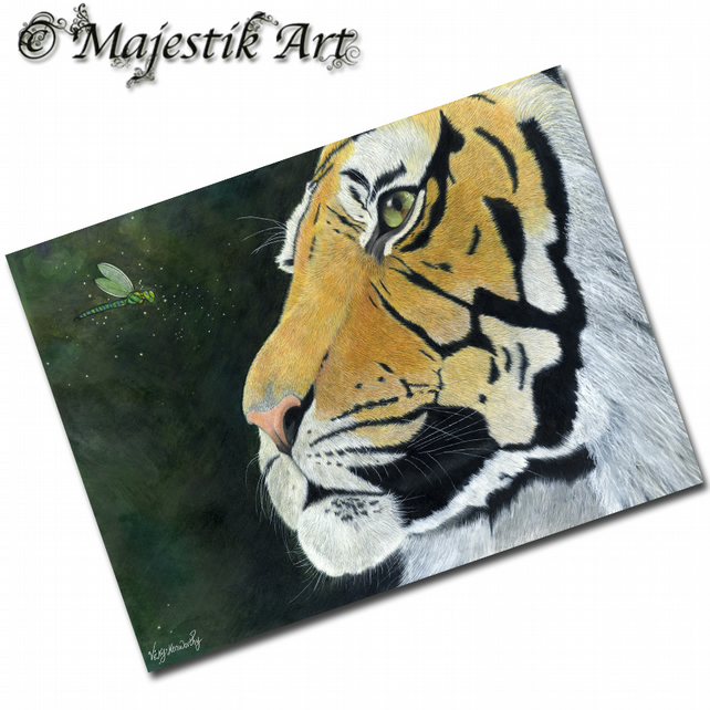 ACEO Print Tiger CAPTIVATE Big Cat Animal