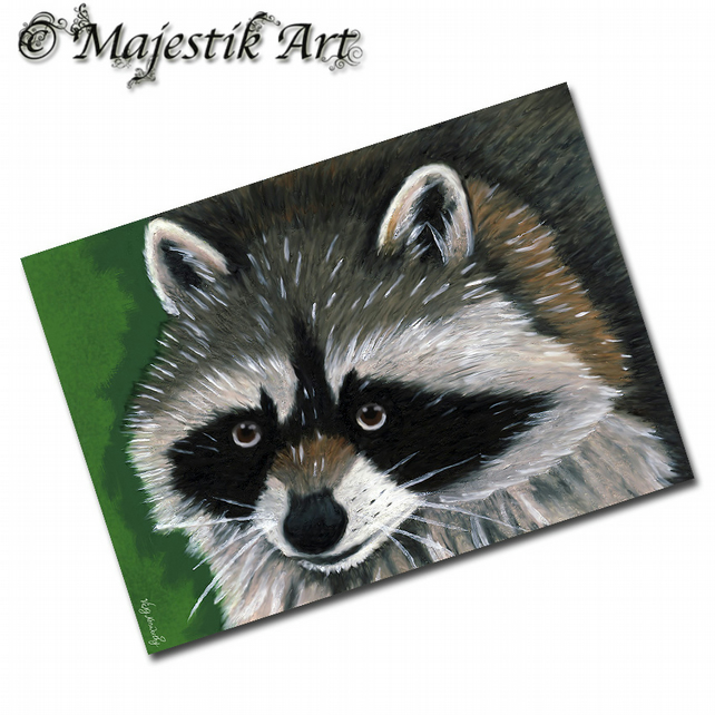 ACEO Print Raccoon Wildlife Animal IT'S ME