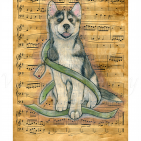 Husky Fine art Print 8 x 10 Archival NOTE Dog