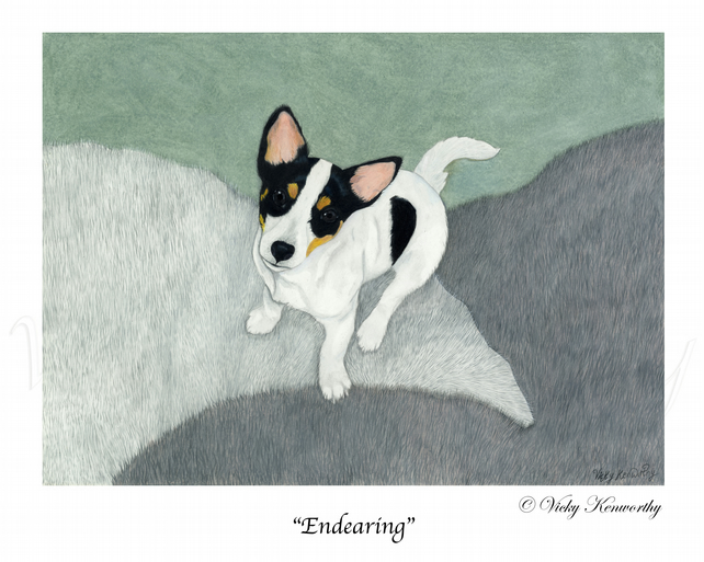 Jack Russell Fine art Print A4 Archival ENDEARING Dog