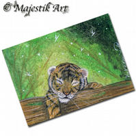 ACEO Print Tiger Cub Big Cat Feline Wildlife Animal  DREAM