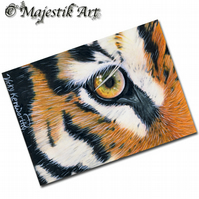 ACEO Print Tiger Big Cat Feline Wildlife Animal  EYE OF THE TIGER