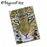 ACEO Print Leopard Big Cat Feline Wildlife Animal  GLANCE