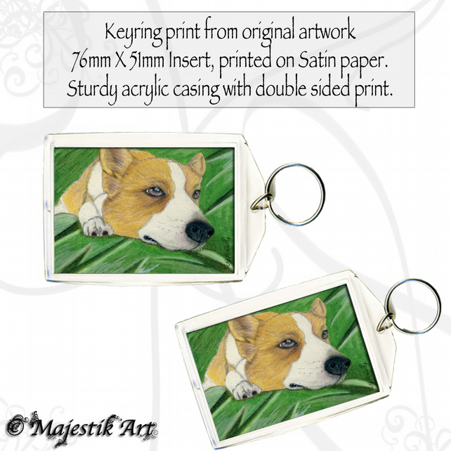 Corgi Keyring REST Animal Pet Dog Canine