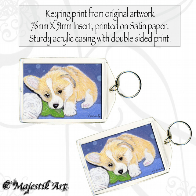 Corgi Animal Keyring MY TOYS Puppy Dog