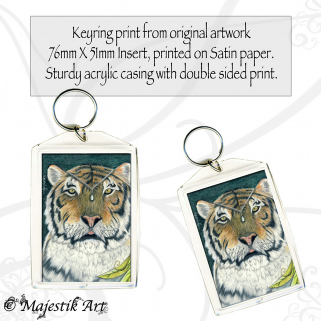 Tiger Keyring KING Wildlife Animal