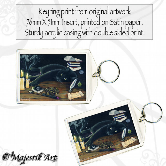 Black Cat Keyring BLACK MAGIC Animal Wiccan