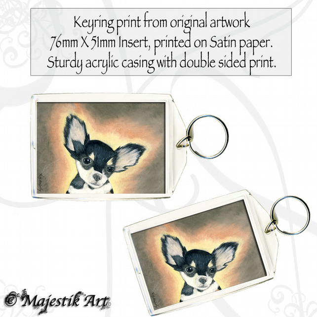 Chihuahua Keyring IS THAT YOU? Dog Puppy Animal