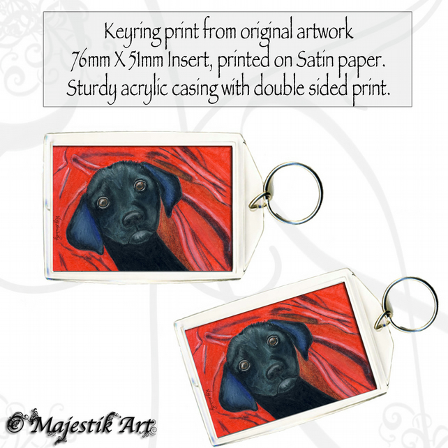 Black Puppy Dog Keyring BLANKIE Pet Animal