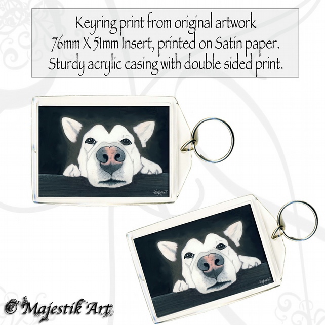 Husky Dog Keyring I'M SORRY Puppy Animal Pet
