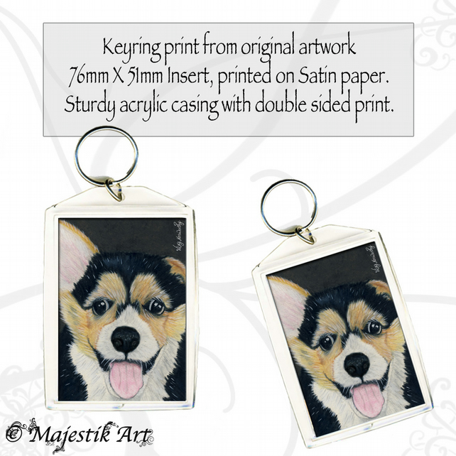Corgi Dog Keyring HANDSOME CHAP Animal Puppy