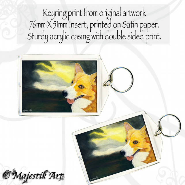 Corgi Pet Keyring STORM Dog Animal