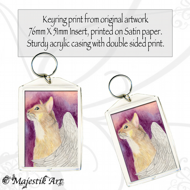 Abyssian Cat Keyring SEE YOU WHEN YOU GET THERE Fantasy