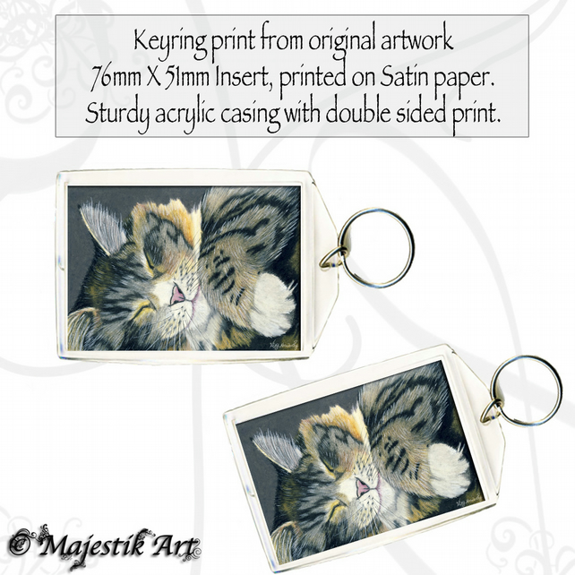 Maine Coon Keyring SLUMBER Cat Animal