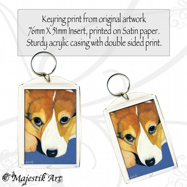 Corgi Dog Keyring I DIDN'T Animal Pet