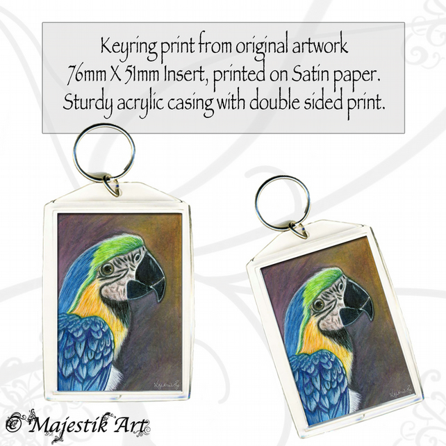 Parrot Bird Keyring PRETTY BOY Animal