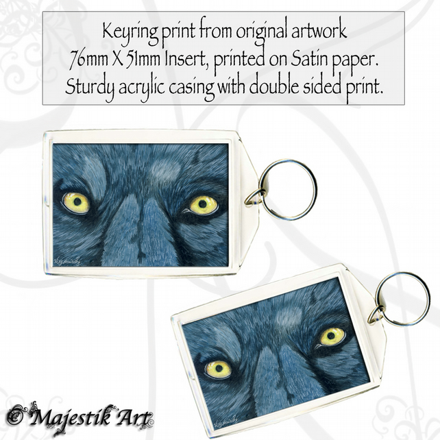 Wolf Animal Keyring WHAT BIG EYES YOU HAVE Wildlife