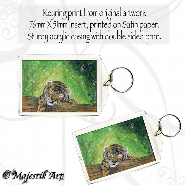 Tiger Cub Keyring DREAM Fantasy Animal Wildlife