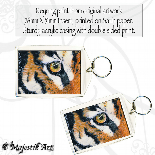 Tiger Keyring EYE OF THE TIGER Feline Wildlife