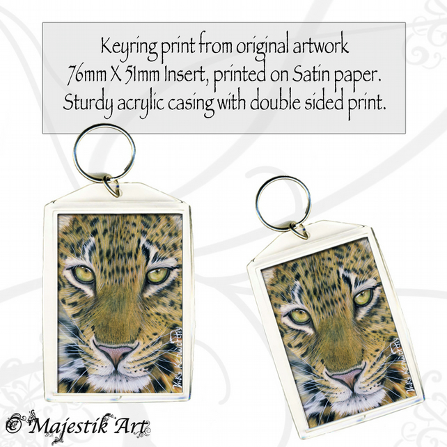 Leopard Keyring GLANCE Feline Wildlife Big cat