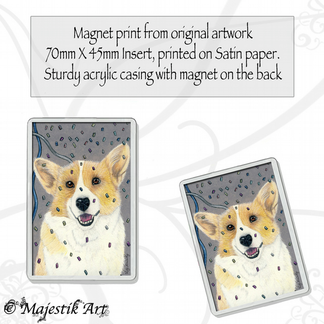 Corgi Magnet PARTY POOCH Dog Pet Animal VK