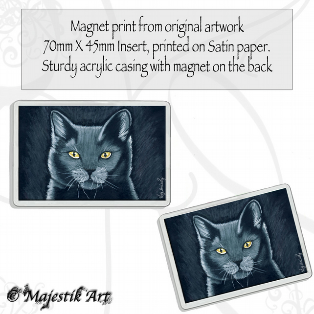 Black Cat Magnet SPIRIT Pet Animal VK