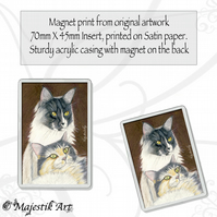 Maine Coon Magnet TOGETHER Cat Feline Animal VK