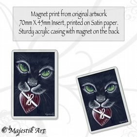 Black Cat Magnet YOURS Feline Pet Animal VK