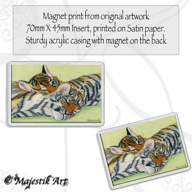 Tiger Cubs Magnet INNOCENT Wildlife Animal VK