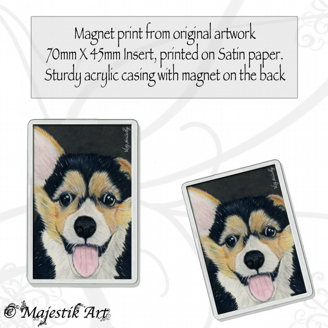 Corgi Dog Magnet HANDSOME CHAP Puppy Animal VK