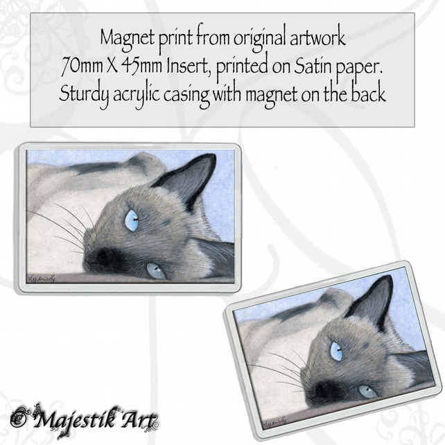 Siamese Magnet HAUNTING Cat Animal VK