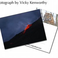 Volcano Mt Etna ACEO Print Photography by VK