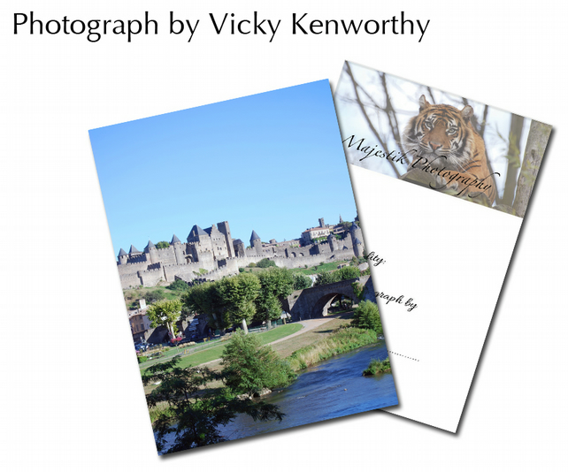 Carcassone Castle ACEO Print Photography by VK