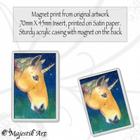 Unicorn Magnet ENCHANTED NIGHT Fantasy Animal Horse VK