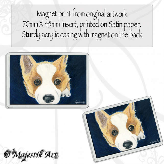 Corgi Magnet BORED Pet Dog Animal VK