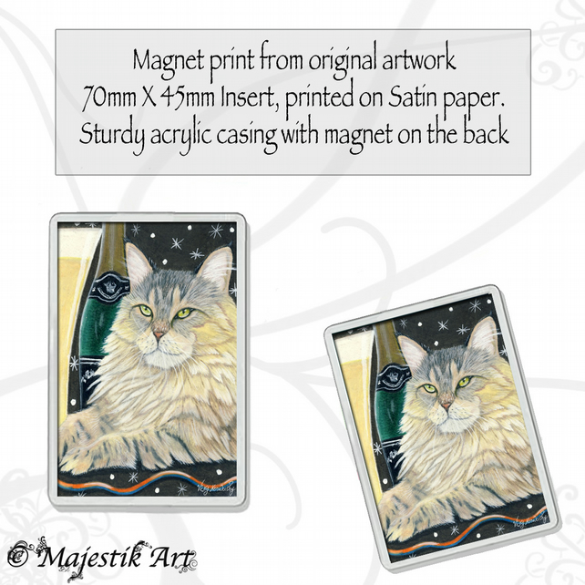 Maine Coon Magnet CHEERS Cat VK
