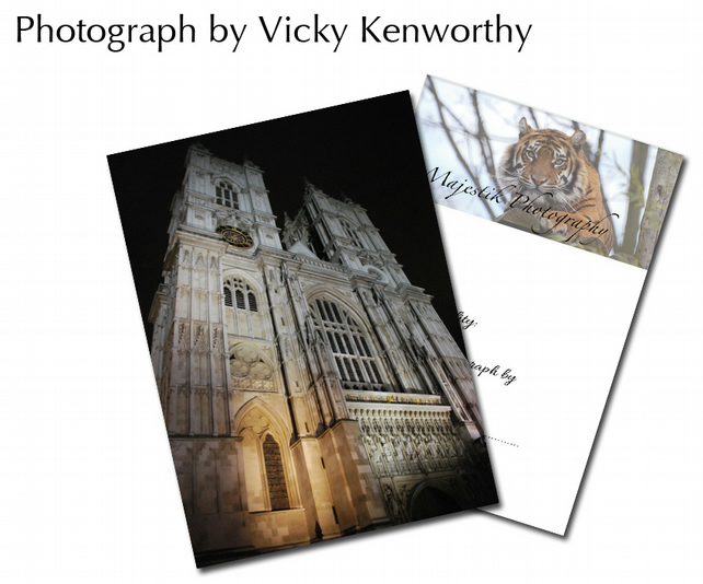 Westminster Cathedral ACEO Print Photography by VK