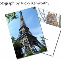 Eiffel tower ACEO Print Photography by VK