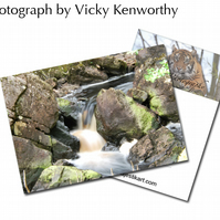 Waterfall ACEO Print Photography by VK