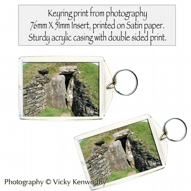 Burial Mound Keyring Photography by VK