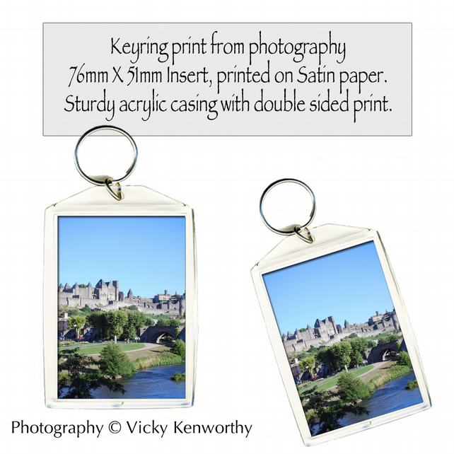 Carcassonne Keyring Photography by VK