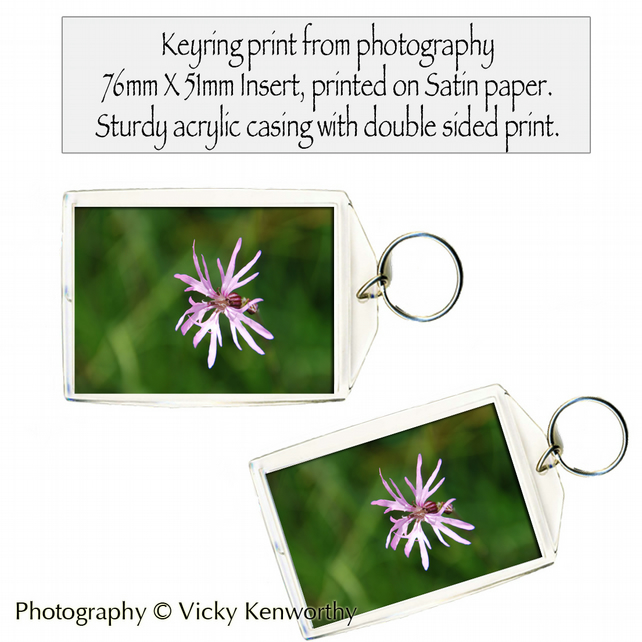 Flower Keyring Photography by VK