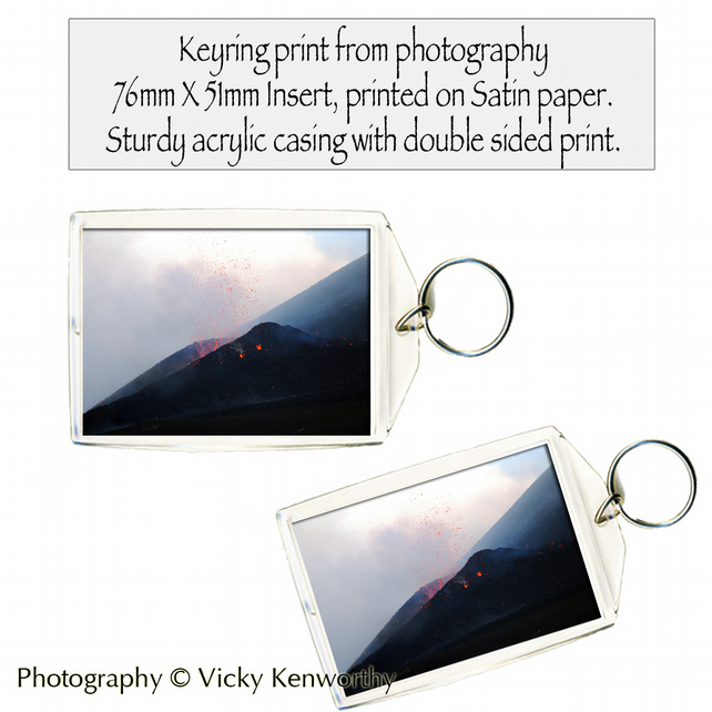 Volcano Keyring Photography by VK