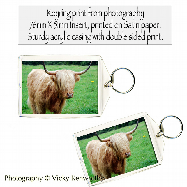 Highland Cows Keyring Photography by VK