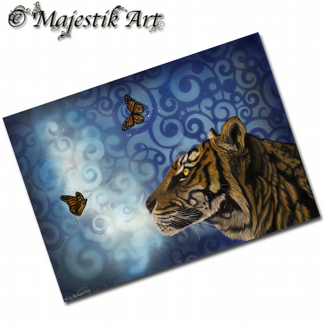 ACEO Print Tiger Butterfly ENCHANTING