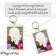 Dog Keyring SWEETS Bull Terrier