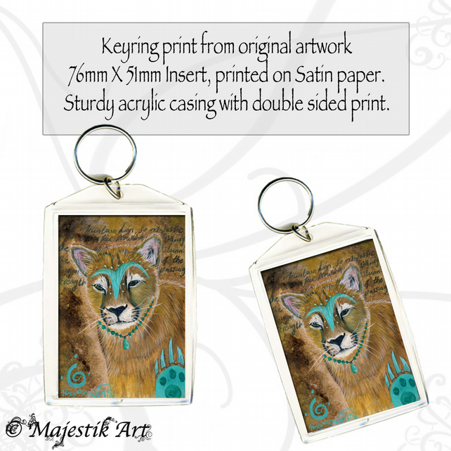Mountain Lion Keyring WARRIOR Native American