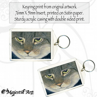 Tabby Cat Keyring THE LOOK Animal