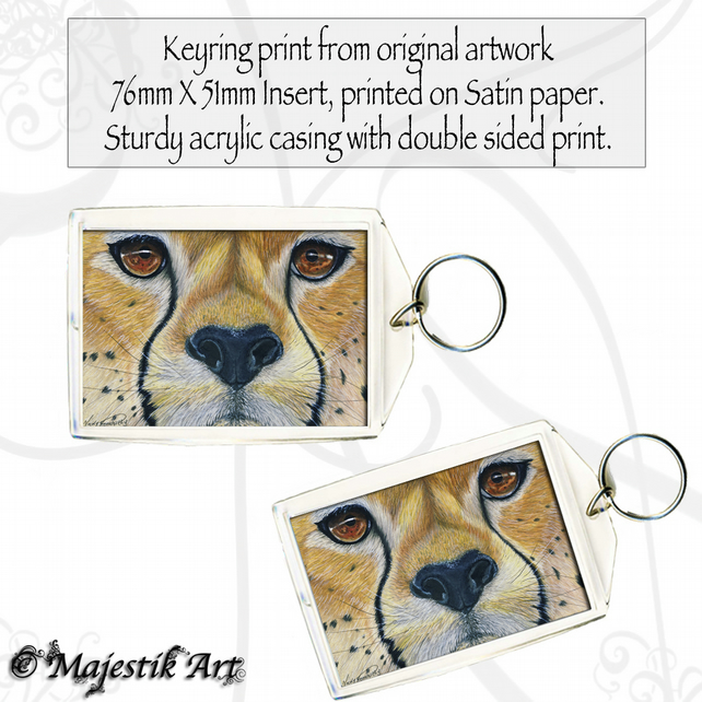 Cheetah Keyring ELEGANT Animal