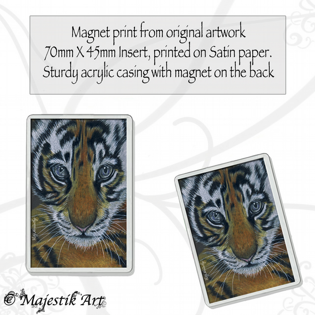 Tiger Magnet BEGINNING Wildlife VK